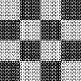 Seamless checked pattern with elements in heart shape.