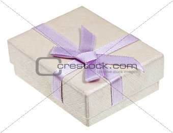 shining paper gift box with pink bow