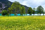 Achensee summer landscape (Austria).