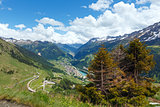 Summer Alps mountain pass