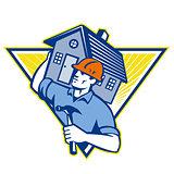 Builder Construction Worker Hammer House