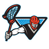 Lacrosse Player Crosse Stick