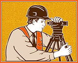 Surveyor Geodetic Civil Engineer Retro