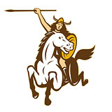 Valkyrie Amazon Warrior Horse Rider