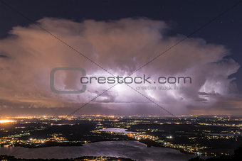 Thunderstorm at the horizon