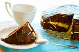 brownie cake dessert cocoa sweet coffee cup