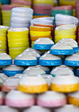 Ceramic color dishes on market