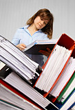 Accountant and business documents