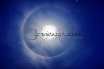 Halo around the moon - photo