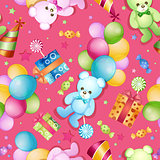 Seamless pattern for birthdays