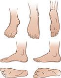 Seven man feet