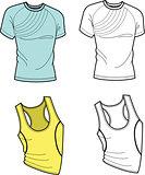 Men T-shirt and football shirt