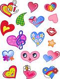 Comic hearts