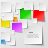 Color square tiles abstract vector background