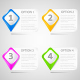 Paper choice pointers eps10 vector illustration