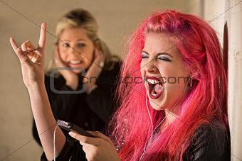 Obnoxious Girl Singing