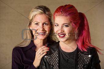 Joyful Mom and Teenager
