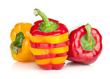 Ripe colorful bell peppers