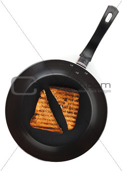 Toast on frying pan