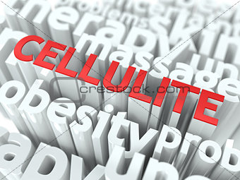 Cellulite. The Wordcloud Medical Concept.