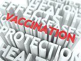 Vaccination. The Wordcloud Medical Concept.