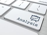 "Business Concept. ""Analysis"" Button."