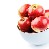 Fresh organic apples in a bowl