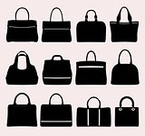 Set of bag's icons