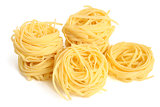 Fettuccini pasta nests