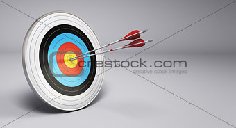 Arrows Hitting Target, Archery