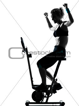 woman biking workout fitness posture