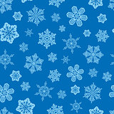 Vector. Seamless snowflakes background.