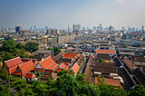 Aerial view of Bangkok from Golden mount