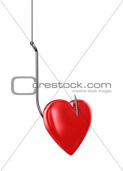 Heart on hook