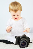 Beautiful Baby With Camera
