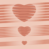 Heart origami pink Background vector illustration for Valentine