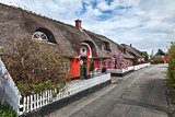 Traditional house in Nordby on the danish island Fano