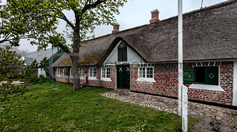 Traditional house in Sonderho on the Danish island Fano