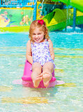 Happy girl on water attractions