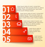 Infographics options banner, numbered banner