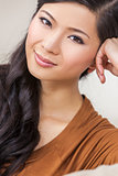 Portrait Beautiful Young Asian Chinese Woman