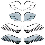 set of cartoon wings