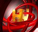 letter h in abstract space