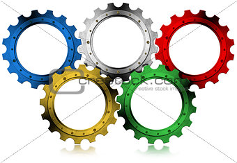Olympic Gears - Concept of Global Industrialization