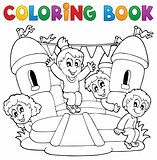 Coloring book kids play theme 5