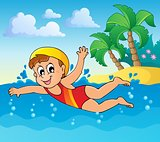Swimming theme image 2