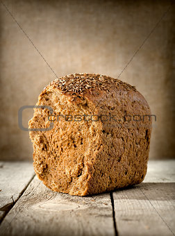 black bread on the table