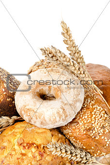 Bread and wheat isolated