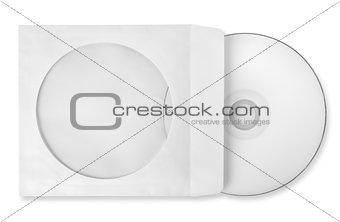 CD with paper case isolated