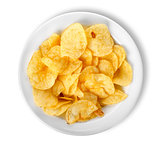 Chips in a plate isolated
